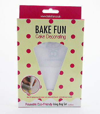 Wholesale Bake Fun Reusable Icing, Pastry, Piping Bags x 5 (40cm) x 130