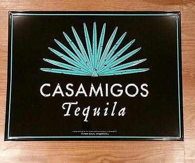 Casamigos Tequila Tin Metal Embossed Sign Black & Green Measures 24 X 18 RARE