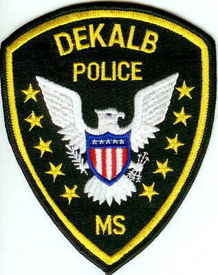 Dekalb Police Patch Mississippi MS NEW!!