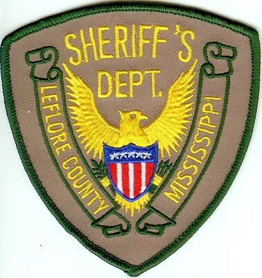 Leflore County Sheriffs Dept. Police Patch Mississippi MS NEW!!