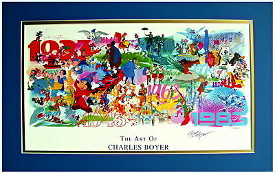 Disney Legend and Artist Charles Boyer Autographed Matted Print