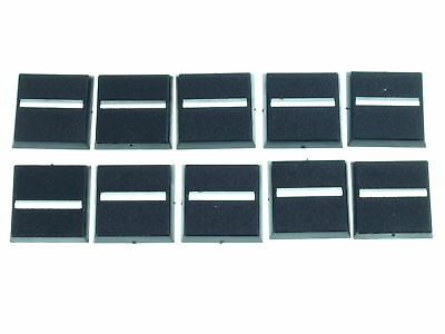 Bases - 20x20mm square Base with Slot (100x) - *BITS*