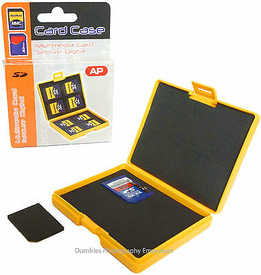 Memory Card Hard Case Holder Anti- Shock for 8 x SD / MMC Cards. Made in the EU