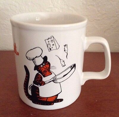 KLIBAN CAT Chefcat Mug Bernard Kliban Playboy Cartoon Artist Mug Made in England