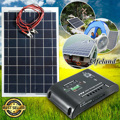 Elfeland 30W 12V Class-A Panneau Solaire Cellule Kit + Regulateur de Charge