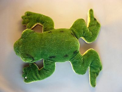 Steiff Frog Crawling Mohair Plush 1960s Vintage Button no tag