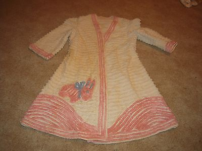Vintage Chenille childs bath robe house coat costume actors