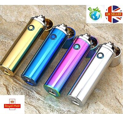 New USB Rechargeable Electric LIGHTER Double ARC PULSE Flameless Plasma Torch UK