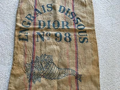 French Fabric Hessian Jute Burlap Feed Sack Grain Bag