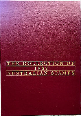 1987 Australia Post Deluxe Collection Yearbook Album with all stamps