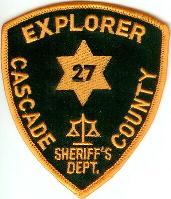 Cascade County Sheriffs Department Explorer Police Patch Montana MT NEW
