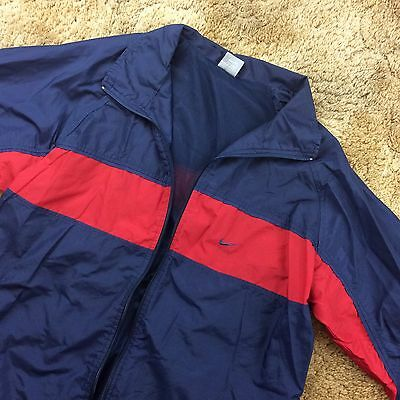 Vintage 2000s Nike Men's Navy Windbreaker Nylon Track Jacket Size Large
