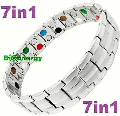 TITANIUM STEEL Magnetic Energy Germanium Armband Power Bracelet Bio 7in1 Bio
