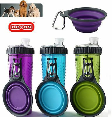 Dexas Popware Snack Duo With Travel Cup Water Treat Food 360ml Dog Pup Water Cup