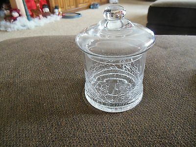 Clear Crackle Glass Candy Dish