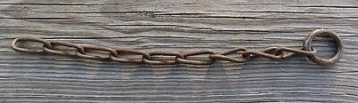 """Antique Hand-Forged 11"""" Chain"""