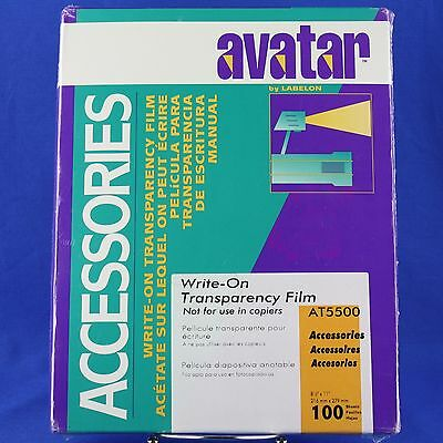 Write-On Transparency Film 100 Ct. Avatar Labelon Sealed Box AT5500