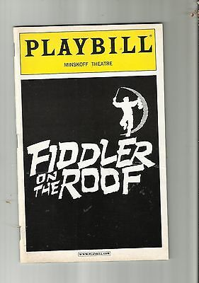 Playbill, Broadway, Musical, Fiddler On The Roof, Alfred Molina,lea Michele,2004