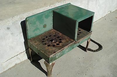 GREEN Antique VTG 1930's Metal Child's Electric Toy Stove~CUTE SPICE HOLDER~