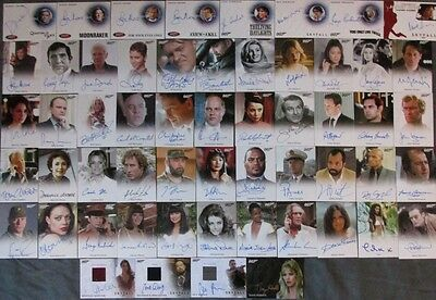 2017 James Bond Archives Final Edition Autograph Card Set Of 56 Roger Moore RARE