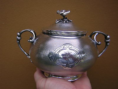 Rare Antique Early Ornate French Silver Christofle 2 Handle Lid Box Pot Tureen