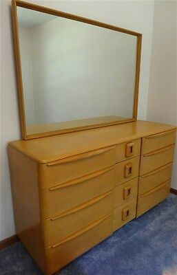 "1950s Heywood Wakefield ""Encore"" Triple Dresser/Mirror"