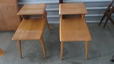 (2) Vintage Mid Century Heywood Wakefield End Tables/ Side Tables/night stands