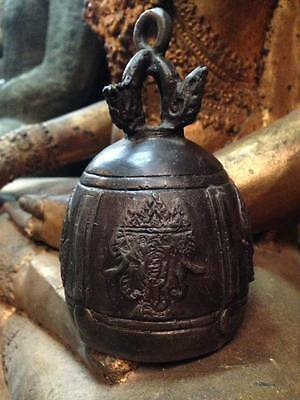 Bell Amulet Elephant Heads Oriental Theppanom Angel Chime Buddha Clapper Temple