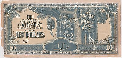 (N3-174) 1942 Japan invasion $10 bank note (space filler) (S)