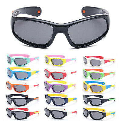 Kids Boy Girl Flexible Silicone Anti-UV Goggles Eyewear Polarized Sunglasses