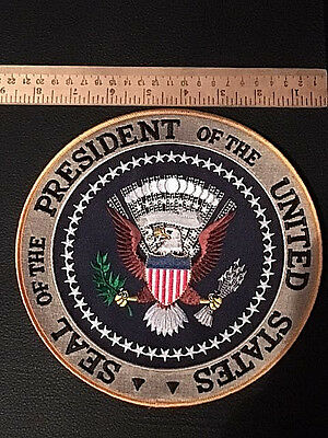 "Authentic President of the USA Seal 8"" dia AWESOME detail!!! Gorgeous Patch #121"