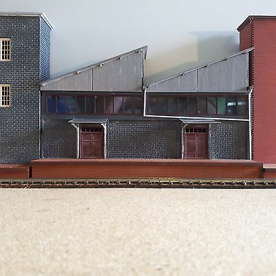 Ho Scale Saw-tooth Warehouse Modular Backdrop kit