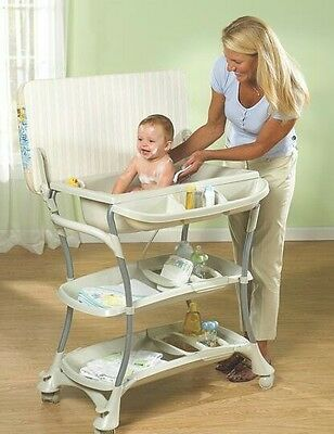 Euro Spa Baby Bath & Combination Changing Table in White [ID 77048]