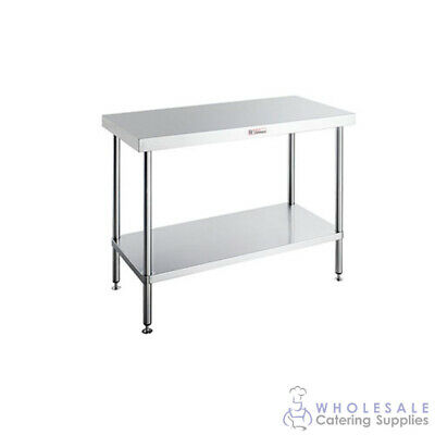 Simply Stainless Steel Workbench with Undershelf 2400x600x900mm Kitchen Prep