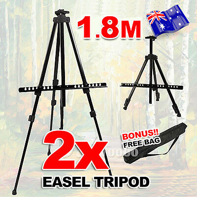 2x Folding Tripod Display Easel Stand Drawing Board Art Artist Sketch Painting
