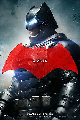 Batman v Superman Dawn of Justice ORIGINAL FILM Plakat zweiseitig - Stil C