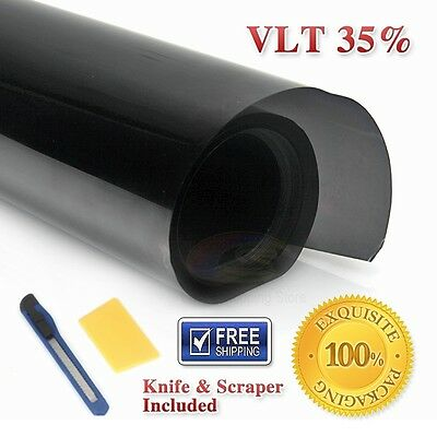 Window Tint Film Black 35% VLT 760mm X 7m Roll 76cm X 7m Car Auto House Home AU