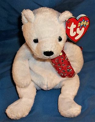 TY Beanie Baby - 2000 HOLIDAY TEDDY BEAR * MINT* with TAG Retired Christmas Bear