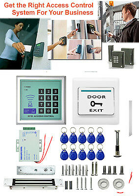 Electronic RFID Proximity Entry Door Lock Security System + 10 Key Fobs fy1