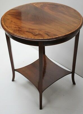 Antique Edwardian Inlaid Walnut Occasional Table - FREE Shipping [PL1067]