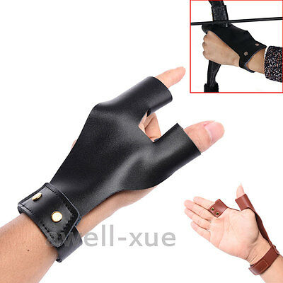 Archery Hand Guard Protector Shooting Glove Left Hand Finger Archery Bow Hunting
