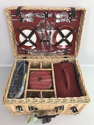 Greenfield Collection (GG020PW) Deluxe Picknickkorb 4 Personen Weide Picknick L3