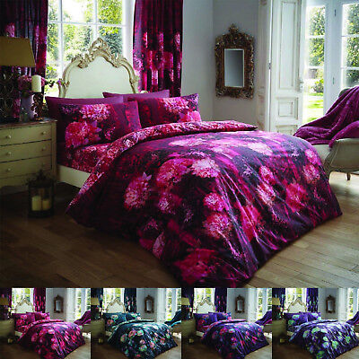 Floral Duvet Cover Set King Size Double Single Super Curtain Designer Bedding