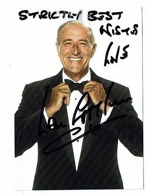 Len Goodman Television Judge Strictly Come Dancing Hand Signed  Photograph 6 x 4