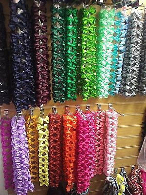 Joblot Hair Bows Girls Clips Accessories Ribbon Assorted Colours Mixed Bulk NEW