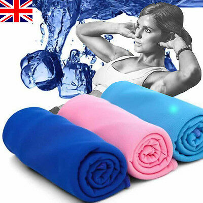 Instant Cooling Towel Sports Gym Towel Drying Sweat Pets Baby Absorb Dry UK