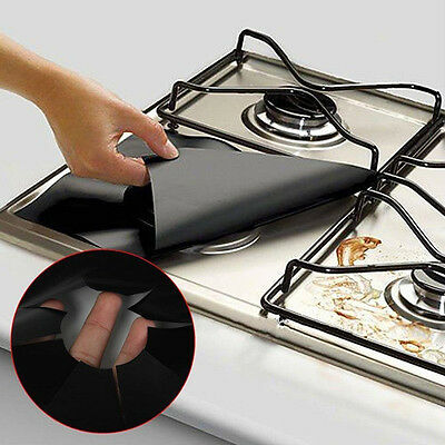 4pcs Stove Top Protector Liners Washable Gas Cook Burner Cover for Kitchen