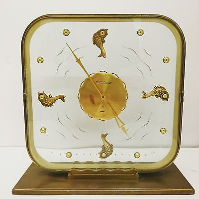 """Jaeger-Le-Coultre """"Fish Pond"""" Mystery Salon Mantle Clock (8-Day) (Mid 20thC)"""
