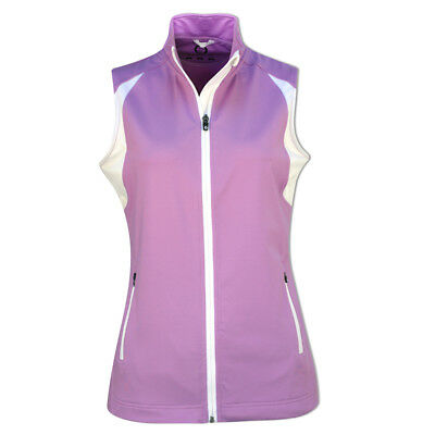 Sunderland Ladies Fleece Gilet with 4-Way Stretch in Lilac/White