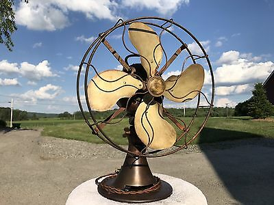 Antique Emerson Brass Blade Fan. Model 29646. Hand Rubbed Finish!!